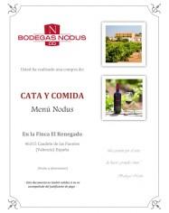 Cata y comida - Menu Nodus