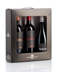 Estuche 3 botellas vino Nodus